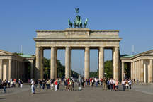 Brandenburg Gate in Berlin with space for events