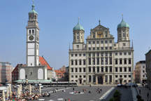 Augsburg Town Hall with the eventlocation and wedding venue Goldener Saal