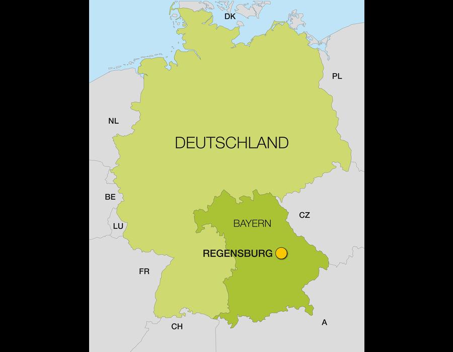 Regensburg Lage